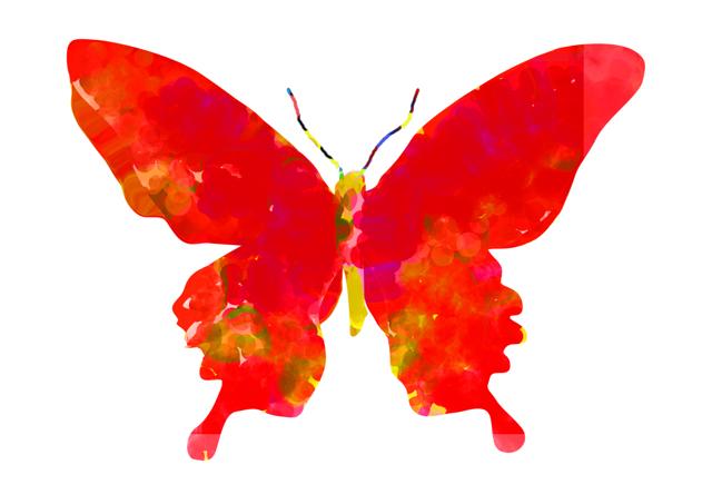 赤い蝶々はモノクロームの夢を見る。